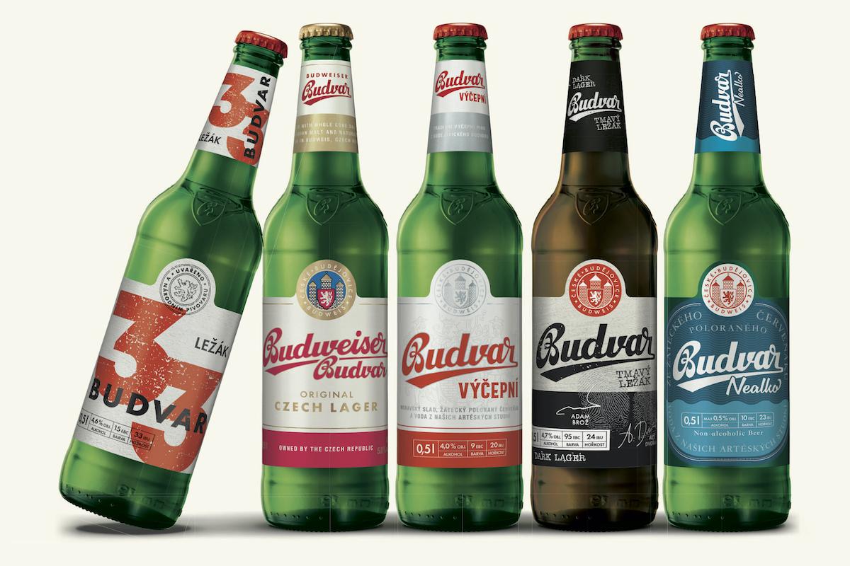 Nový design portfolia národního pivovaru Budvar