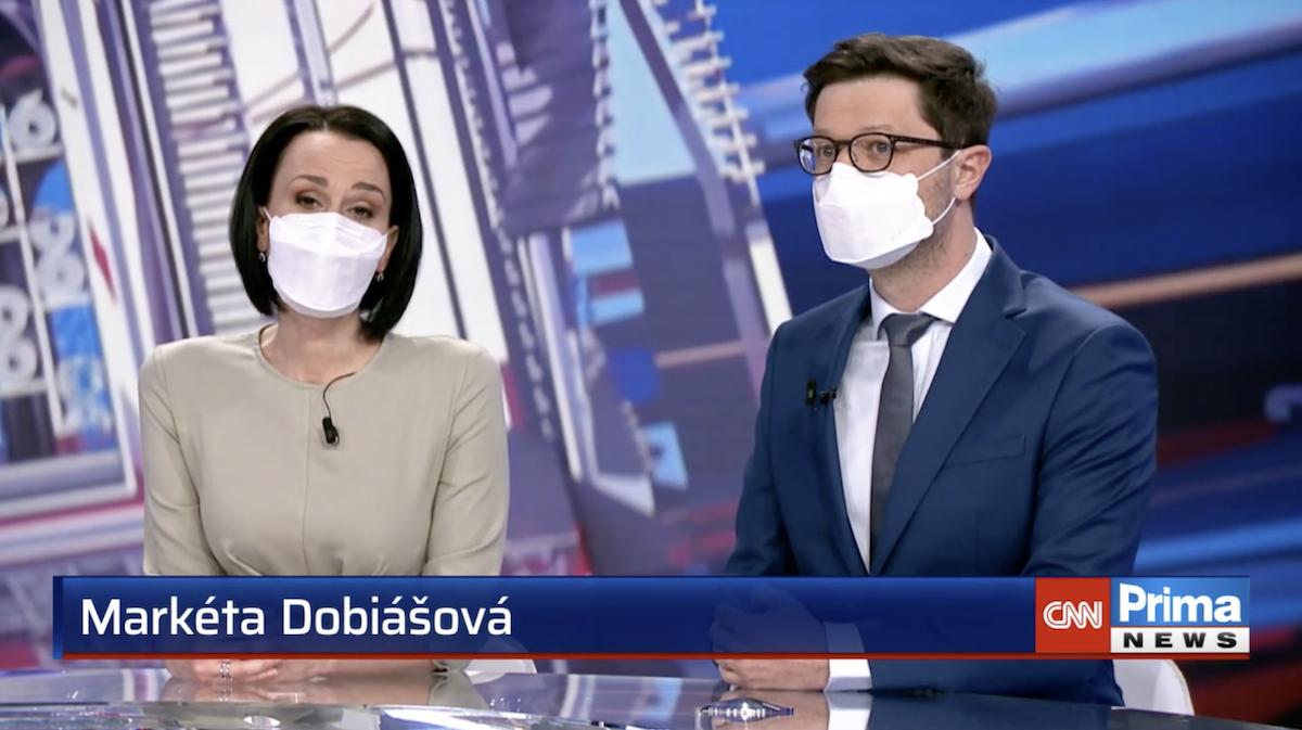 Markéta Dobiášová jako moderátorka večerních zpráv