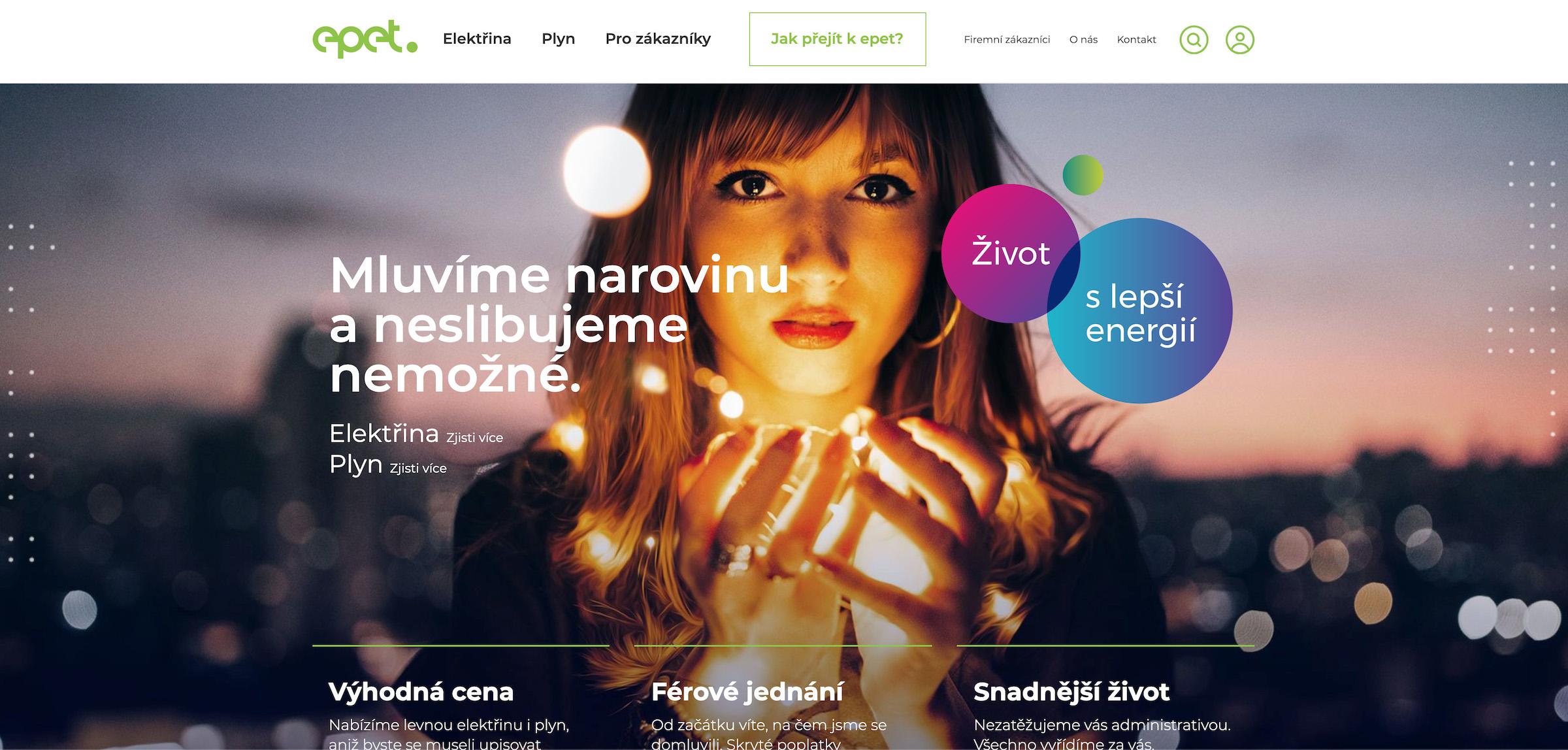 Nový web značky Epet