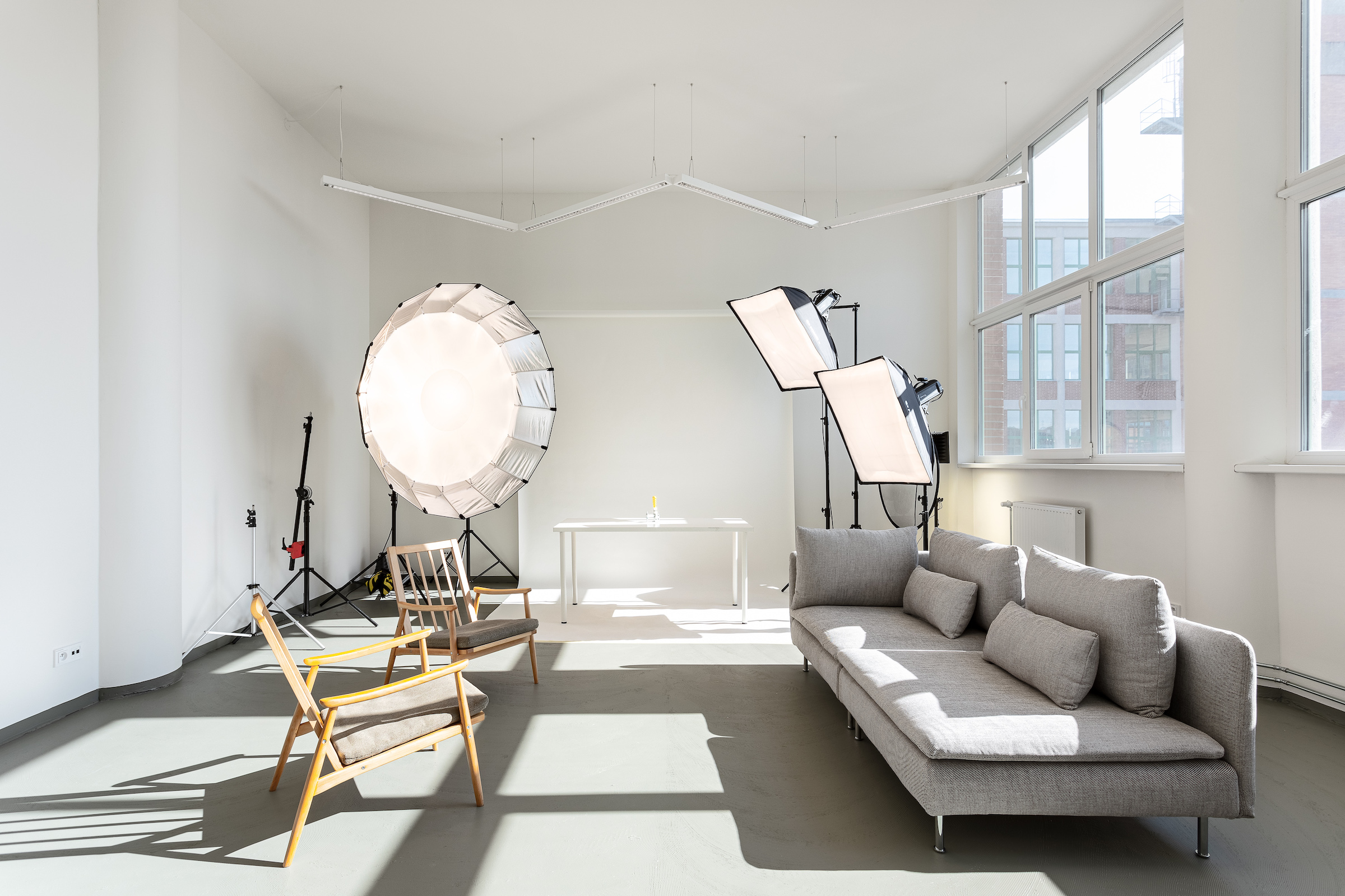 Nový fotoateliér KHS. Návrh interiéru: Studio Cosmo
