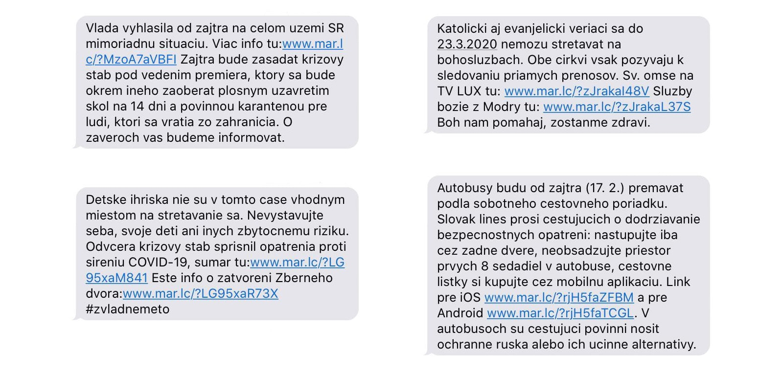 Ukázka už probíhajícího SMS rozhlasu na Slovensku