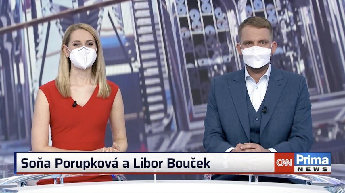 Soňa Porupková a Libor Bouček jako moderátoři Nového dne