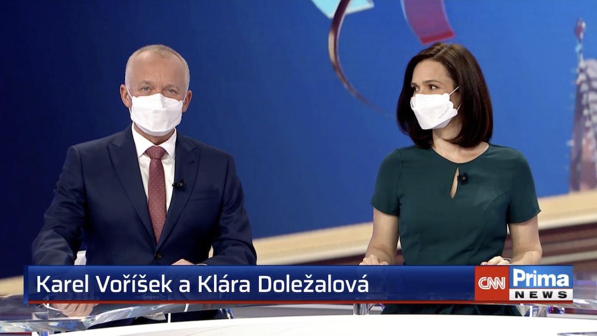 Karel Voříšek a Klára Doležalová budou dál uvádět večerní Hlavní zprávy