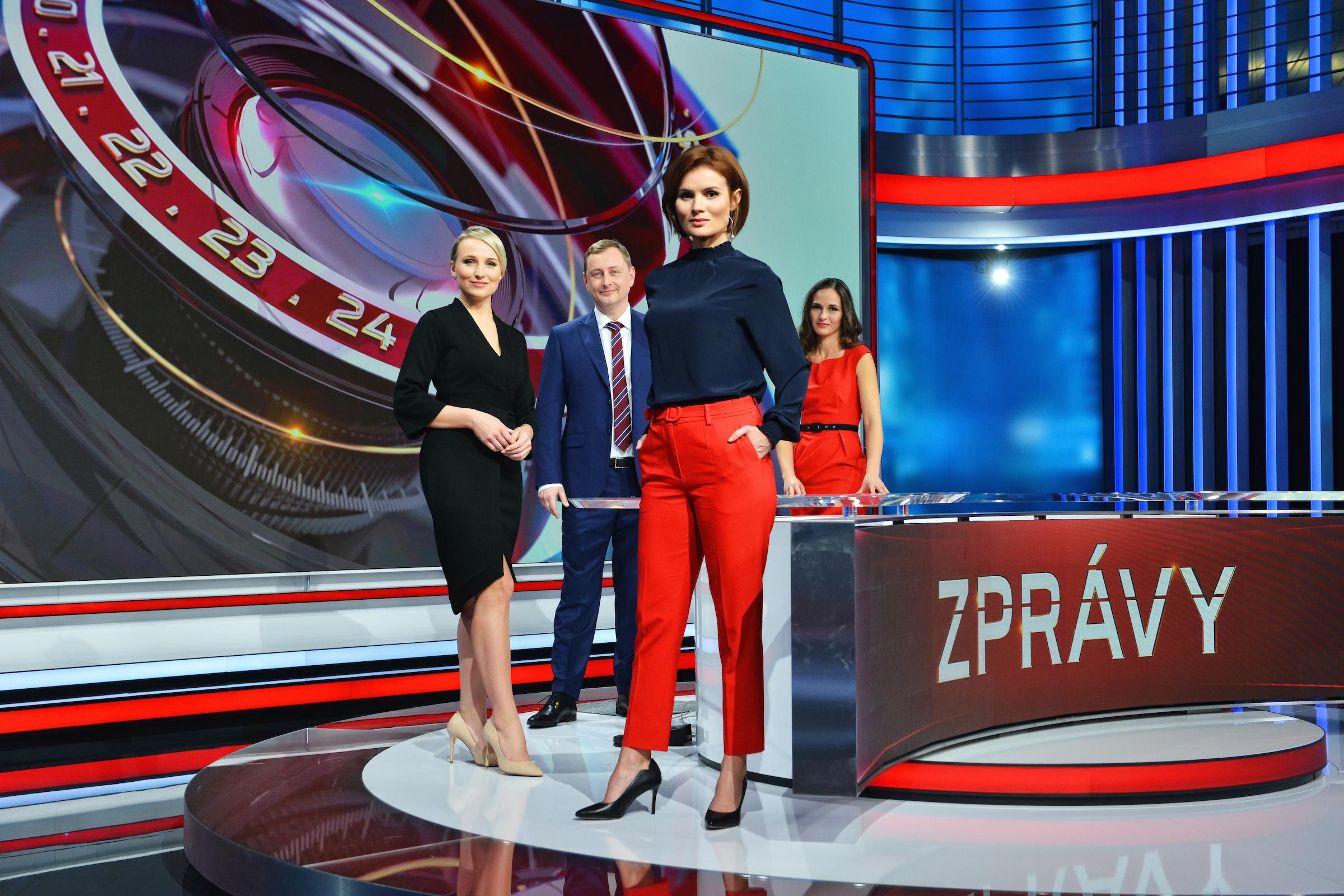 Zprávaři (zleva) Lucie Hrdličková, Josef Kluge, Kristýna Dušák a Veronika Kubíčková