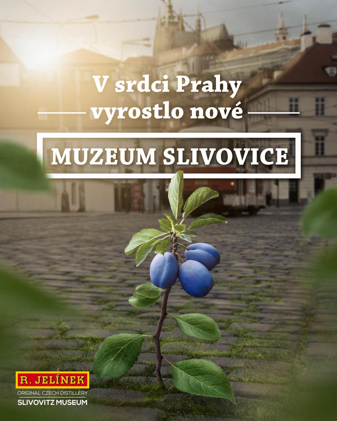 Vizuál z kampaně Muzea slivovice
