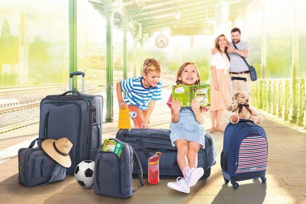 Albert ve věrnostní kampani nabízí zavazadla Travelite a deníky Kvido