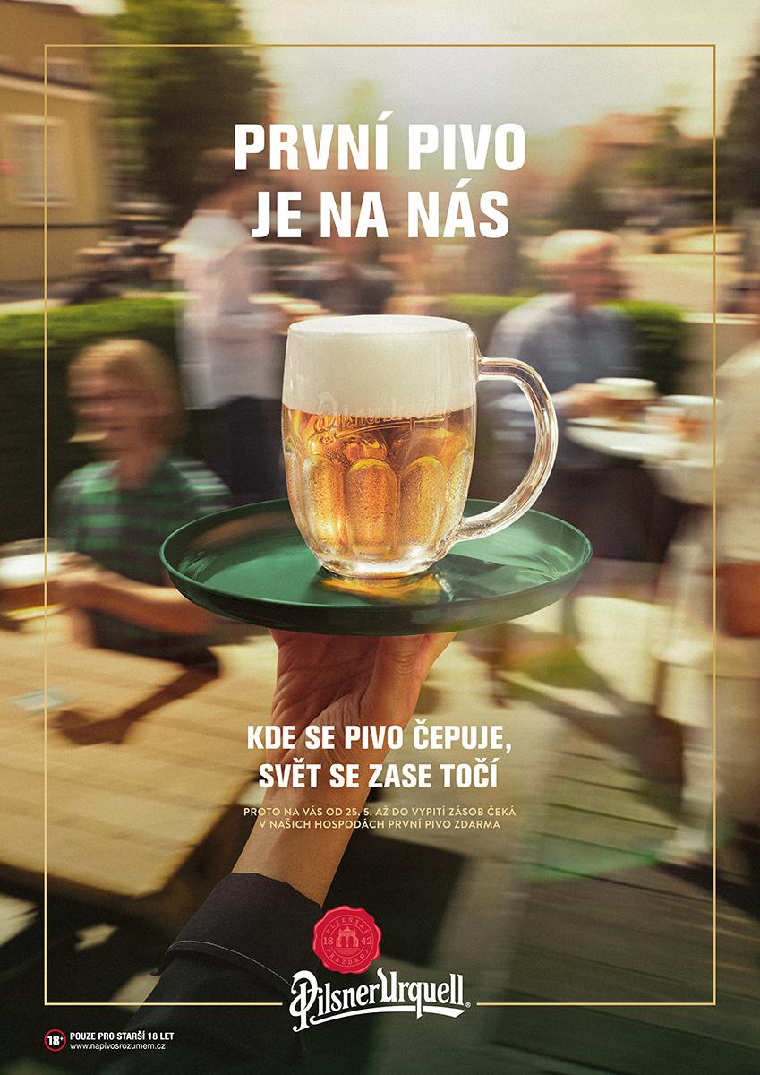 Pilsner Urquell: První pivo je na nás (Triad Advertising)