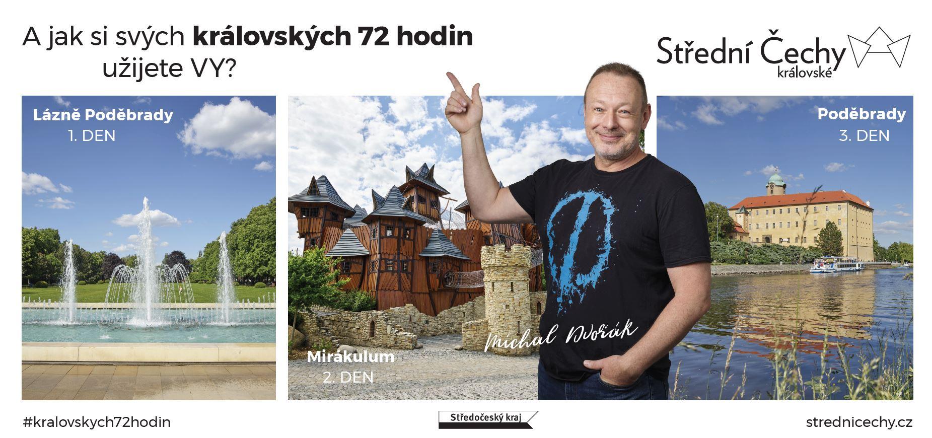 Michal Dvořák v kampani Střední Čechy královské