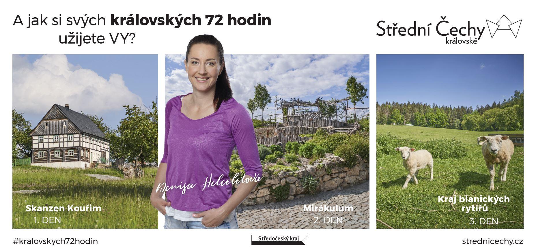 Denisa Helceletová v kampani Střední Čechy královské