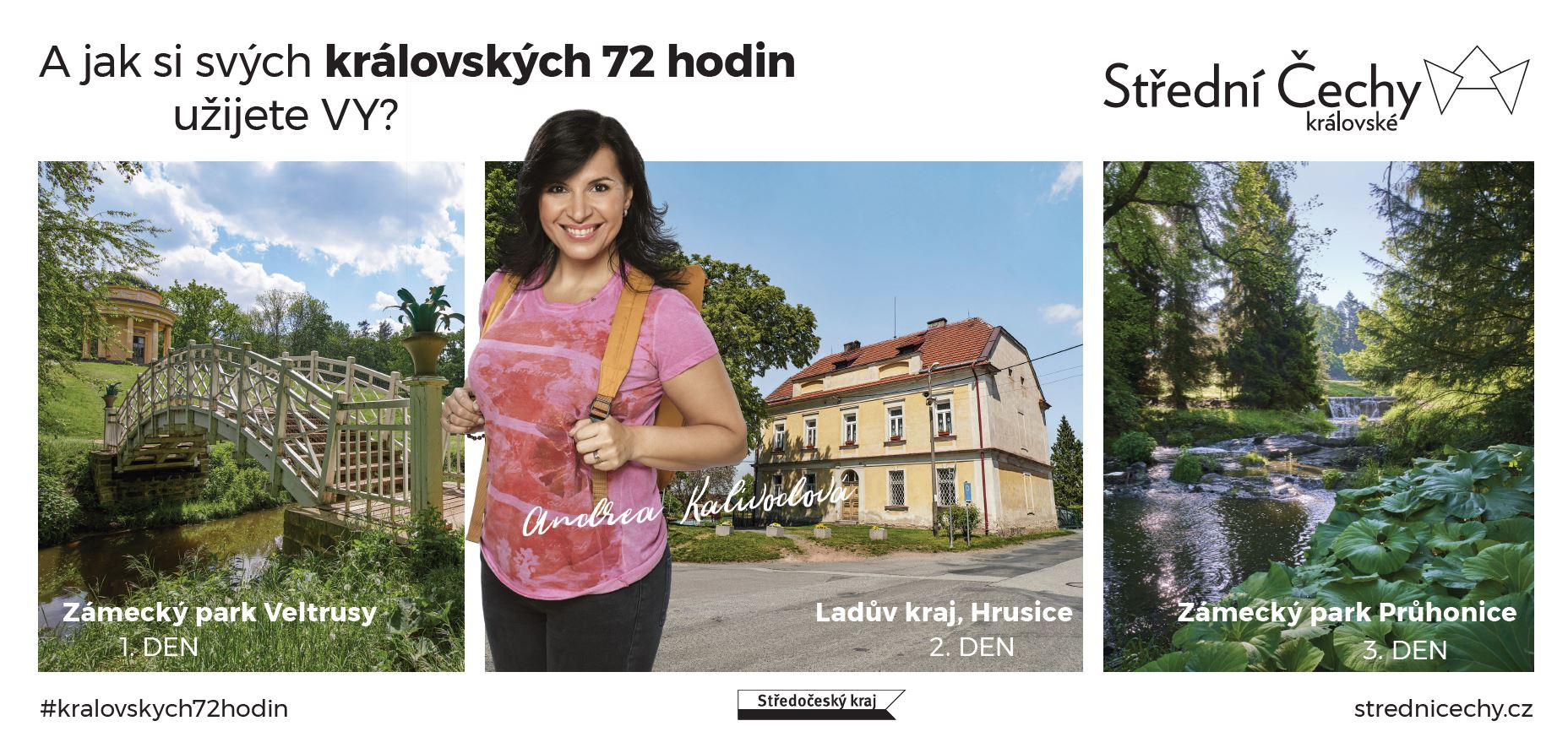 Andrea Kalivodová v kampani Střední Čechy královské