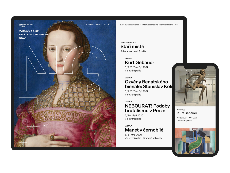 Nový web Národní galerie Praha od Brainz Disruptive