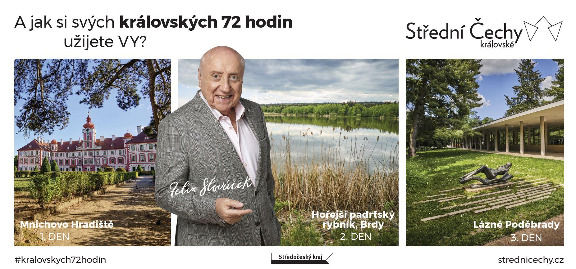 Felix Slováček v kampani Střední Čechy královské