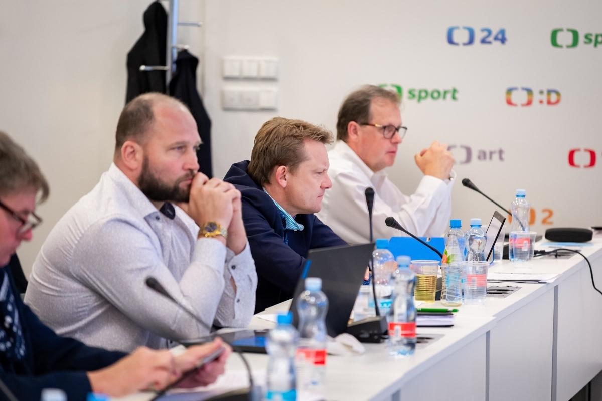 Zleva Jiří Šlégr, Martin Doktor, Petr Dvořák. Foto: Vojta Herout