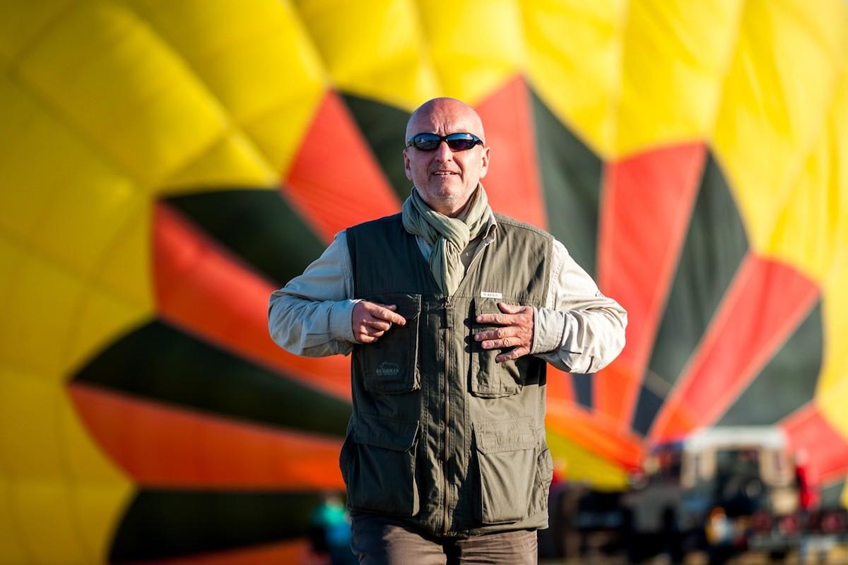 Stanislav Berkovec v létě 2015 na festivalu balónového létání ve Francii. Foto: Profimedia.cz