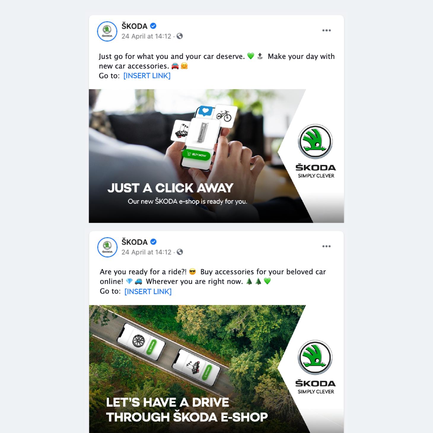 After sales kampaň Škody: Facebook