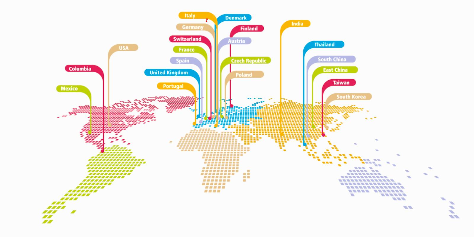 Ankety se zúčastnily agentury z 21 zemí
