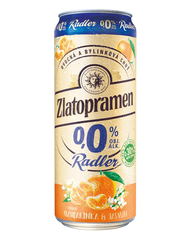 Nový Zlatopramen Radler 0,0 % s příchutí Mandarinka & jasmín
