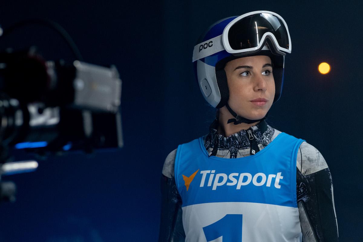 Ester Ledecká v kampani Tipsportu