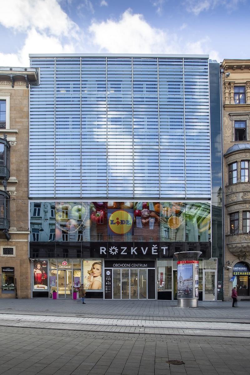 Obchodní centrum Rozkvět v centru Brna bude od listopadu hostit i Lidl