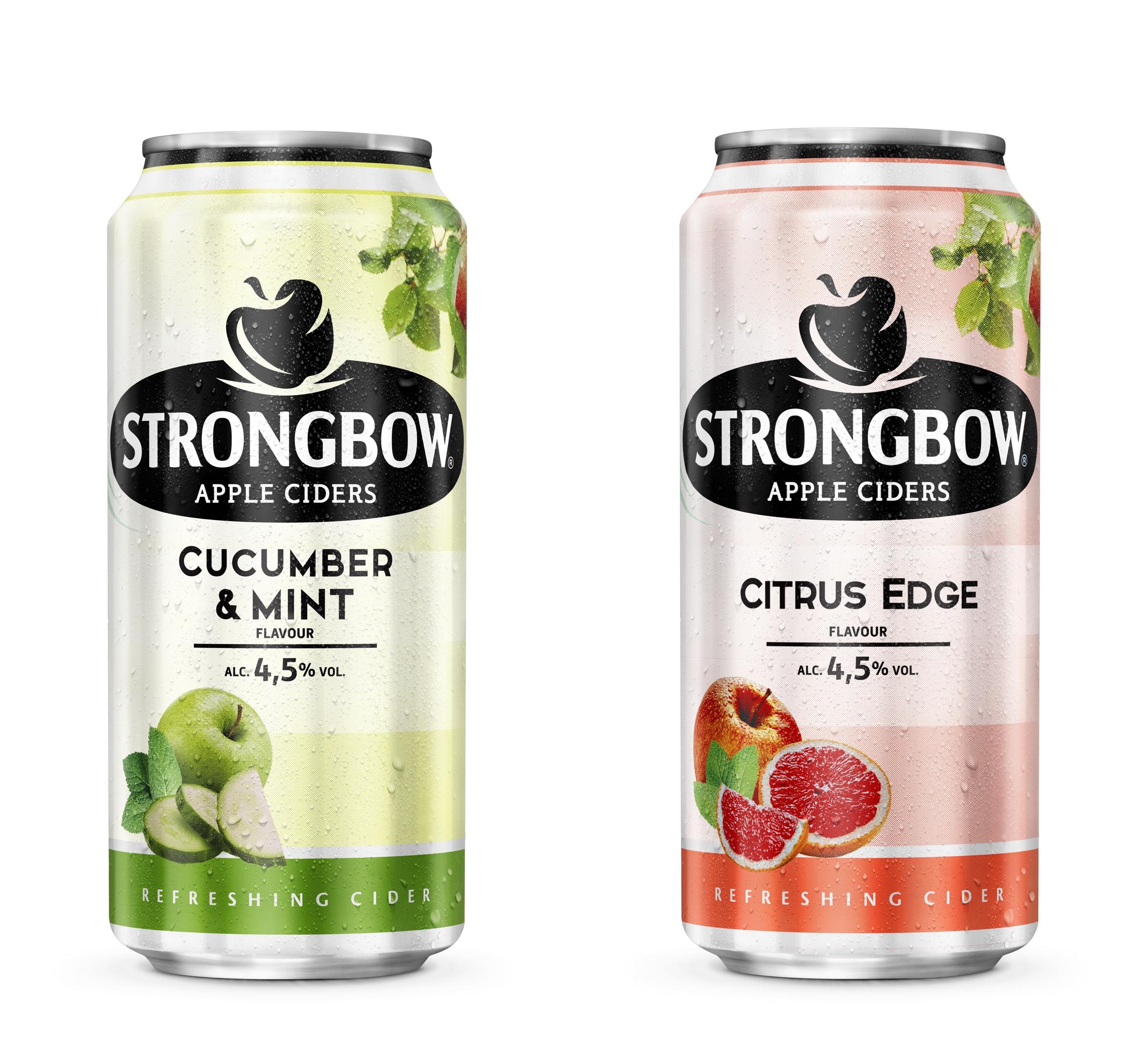 Cucumber & Mint a Citrus Edge, nové příchutě ciderů Strongbow