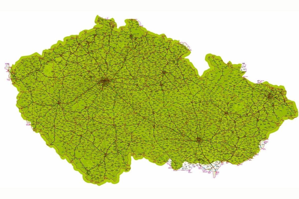 Mapa pokrytí Česka signálem DAB+