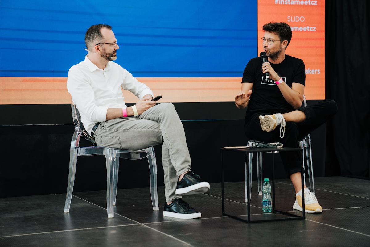 Lukáš Hejlík v rozhovoru s Ondřejem Austem. Foto: Michala Rusaňuková