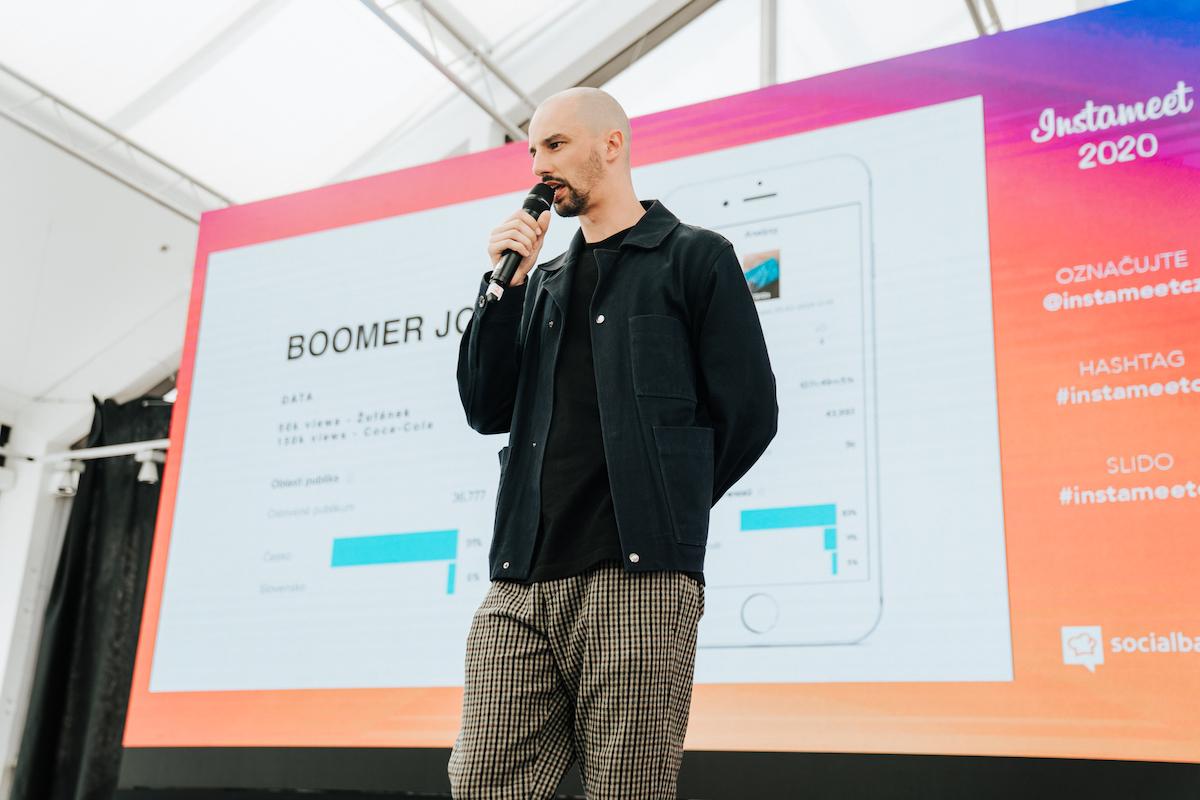 Jonáš Čumrik na zářijové konferenci Instameet 2020. Foto: Michala Rusaňuková