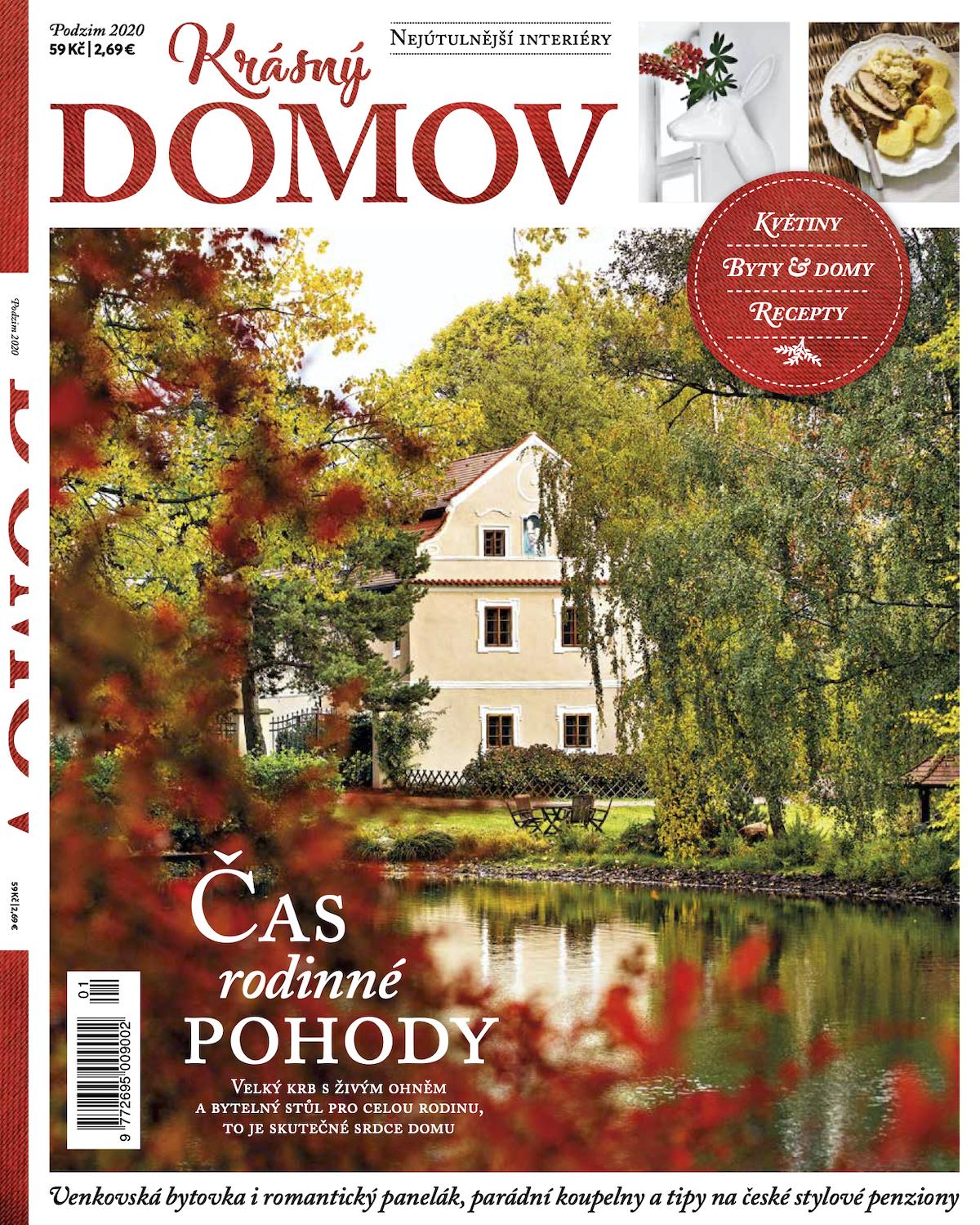 Titulní strana prvního vydání časopisu Krásný domov