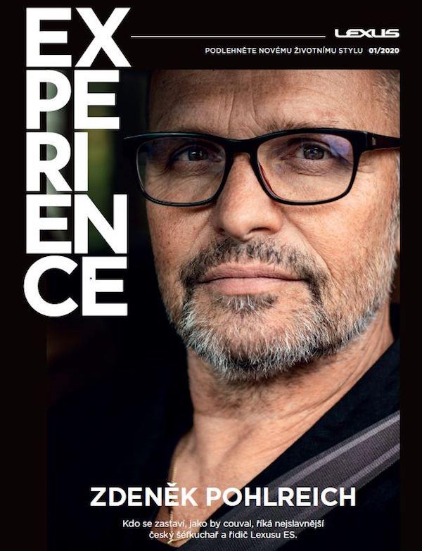 Zdeněk Pohlreich na titulní stráně magazínu Lexus Experience