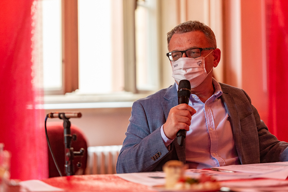 Ministr kultury Lubomír Zaorálek na meetingu se státním fondem, vysílateli a profesionály z oblasti audiovize. Foto: Tomáš Bezděk
