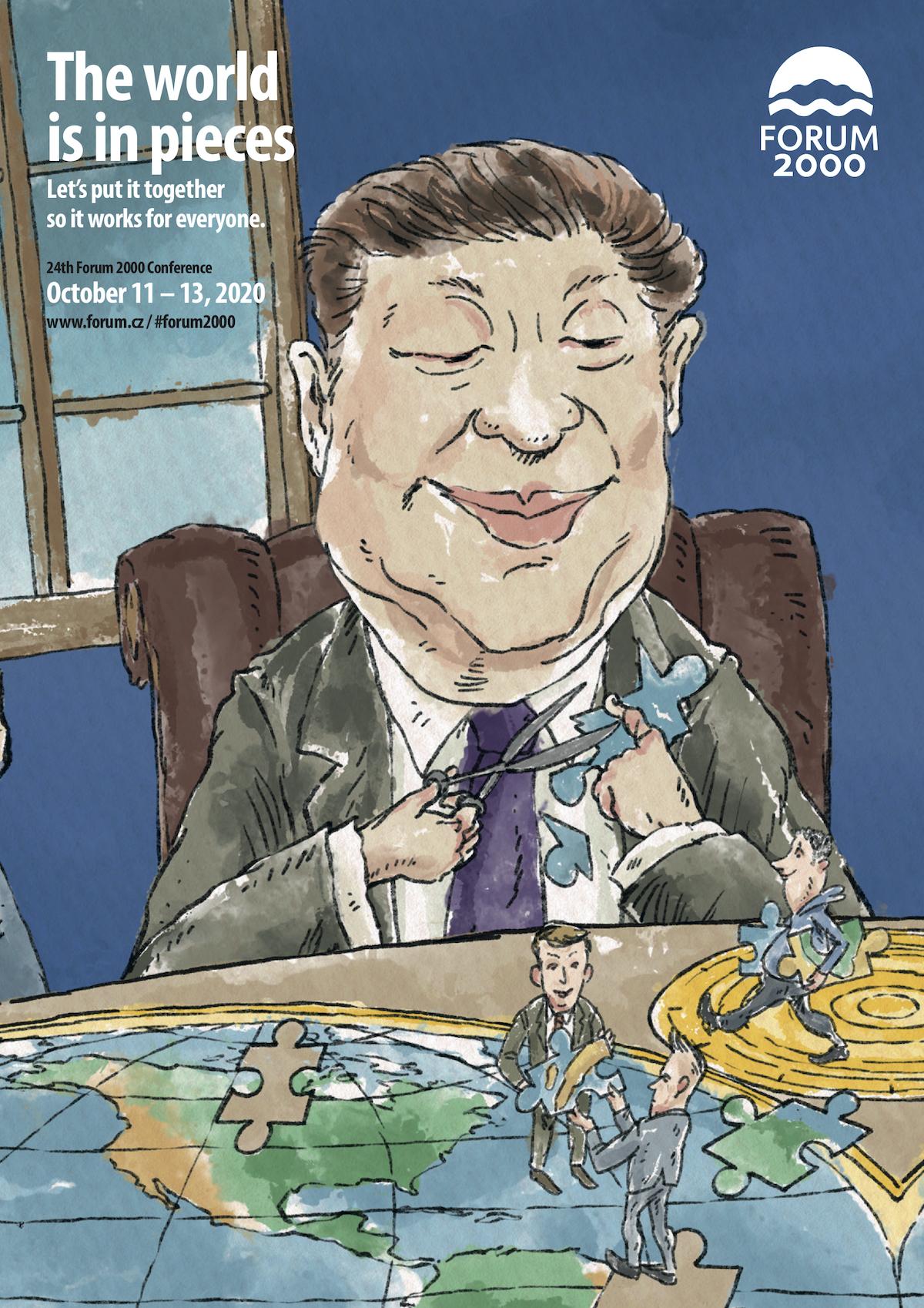 Si Ťin-pching v kreslené kampani Fora 2000
