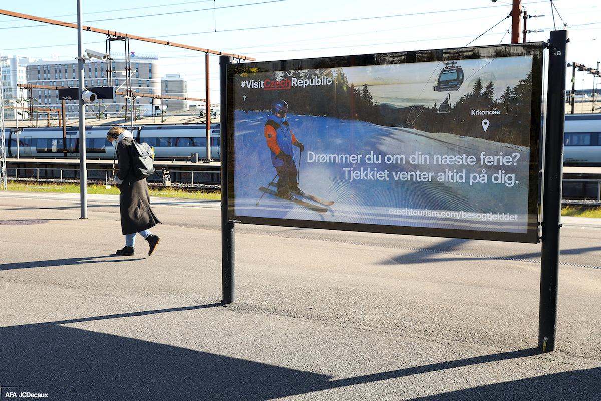 Billboard CzechTourismu v dánské Kodani