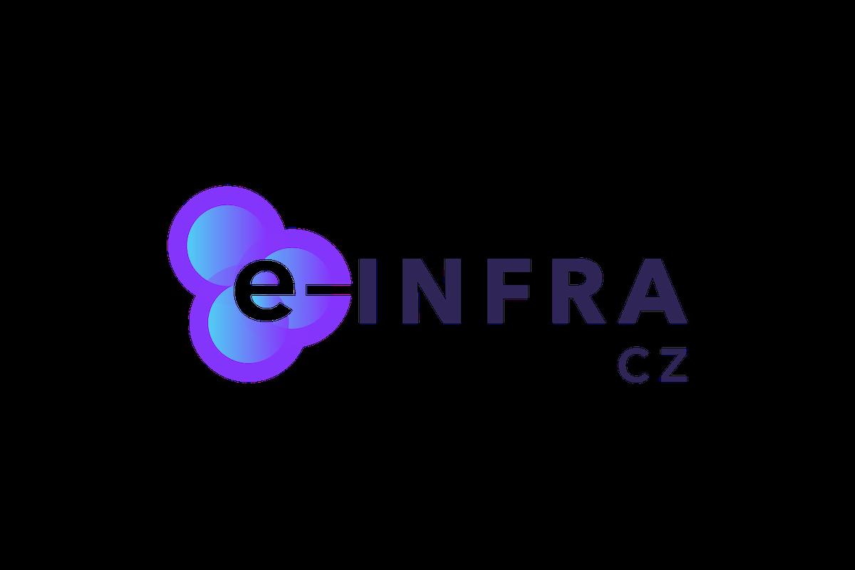 Finální podoba loga výzkumné infrastruktury e-Infra CZ