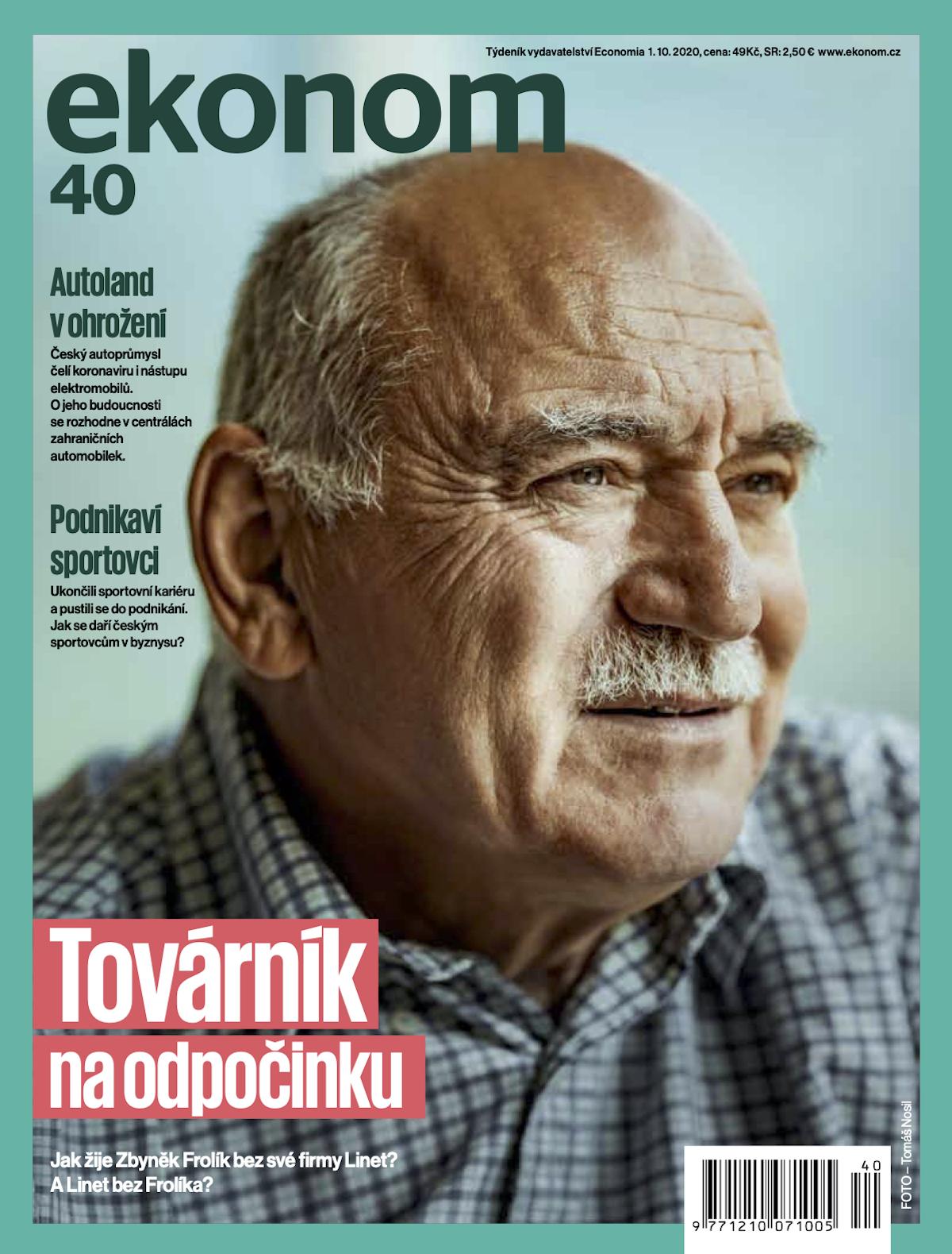 Titulní strana Ekonomu v nové podobě