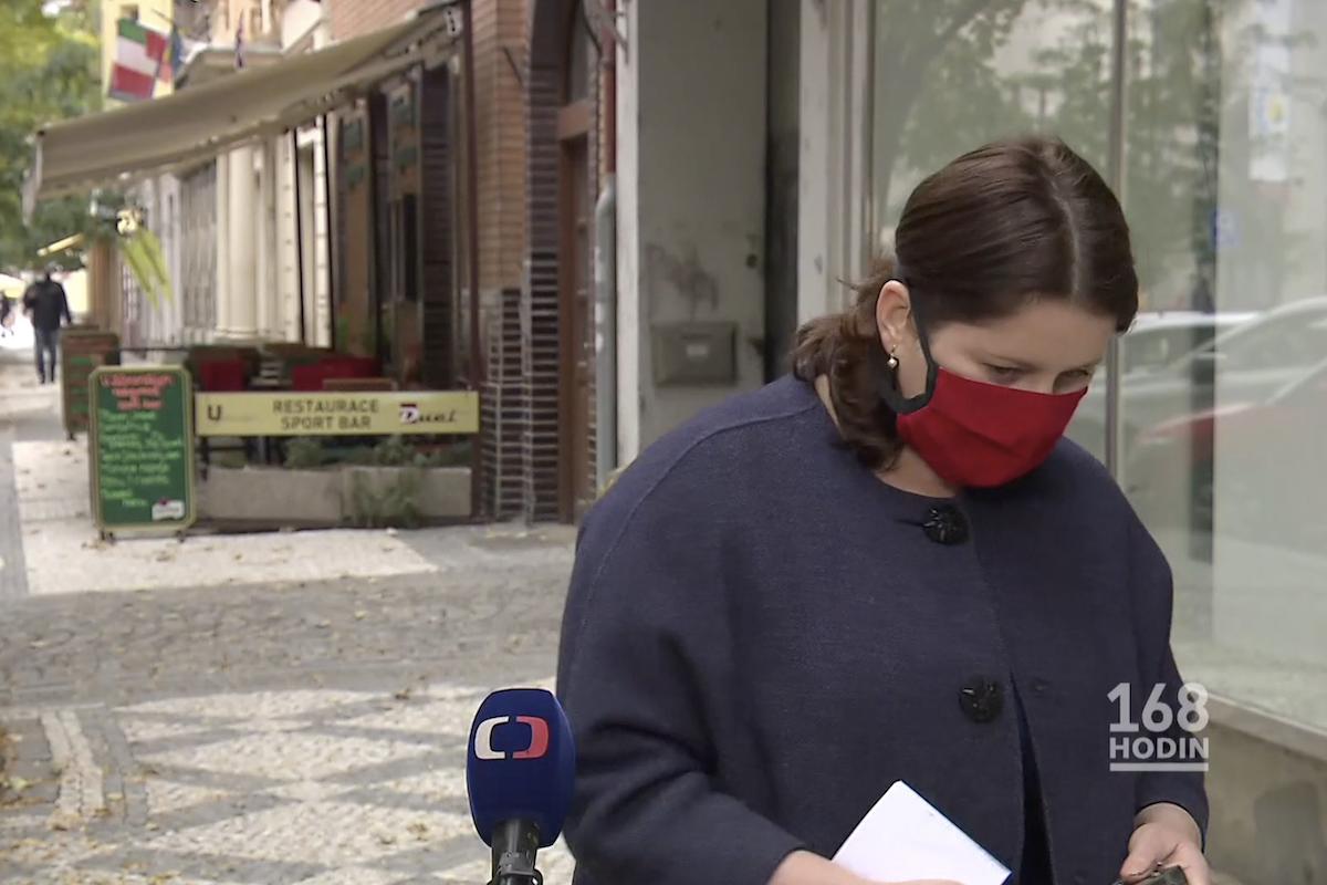 Ministryně Jana Maláčová (ČSSD) v pořadu 168 hodin. Repro: Česká televize