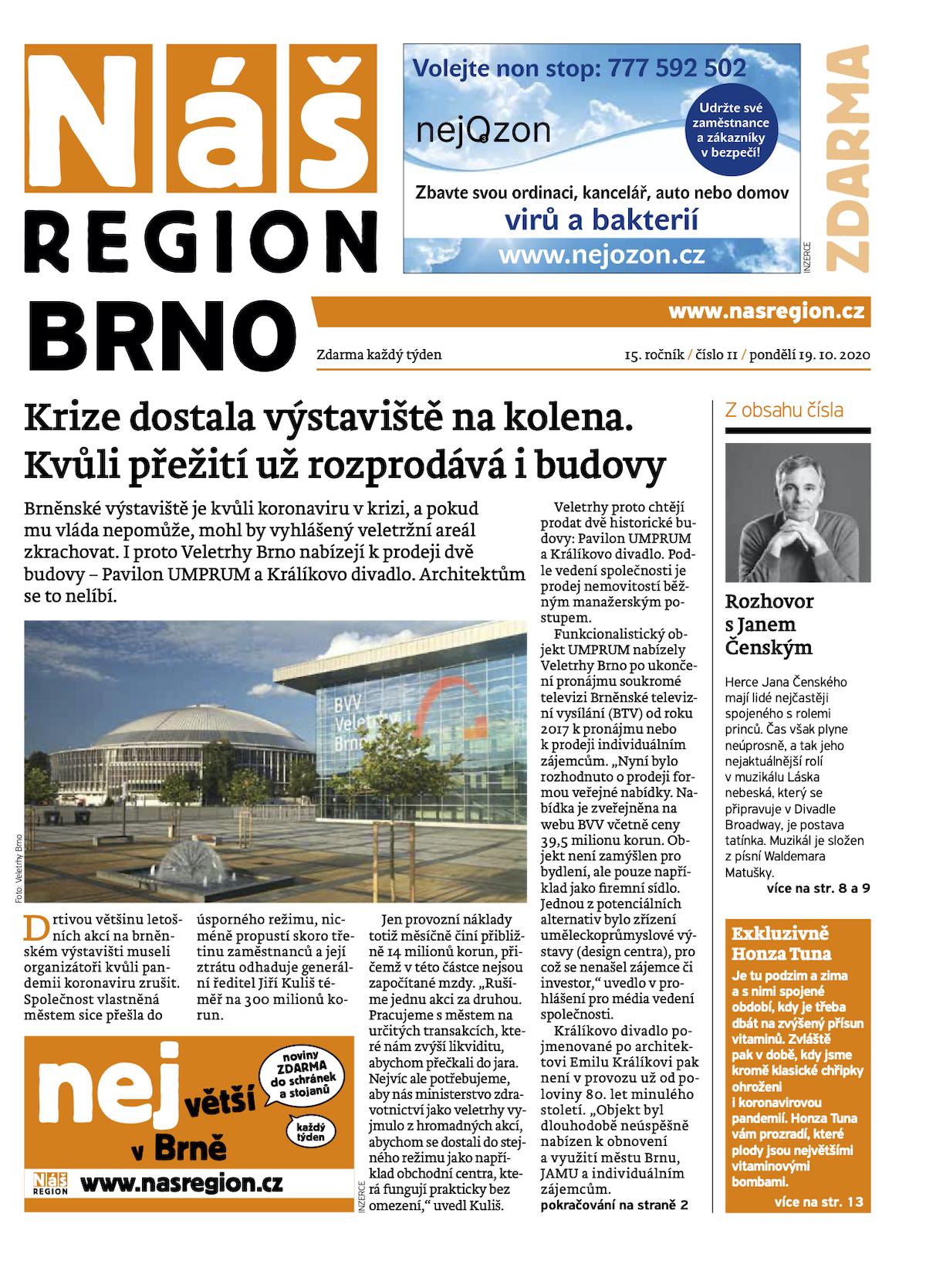 První vydání týdeníku Náš region Brno