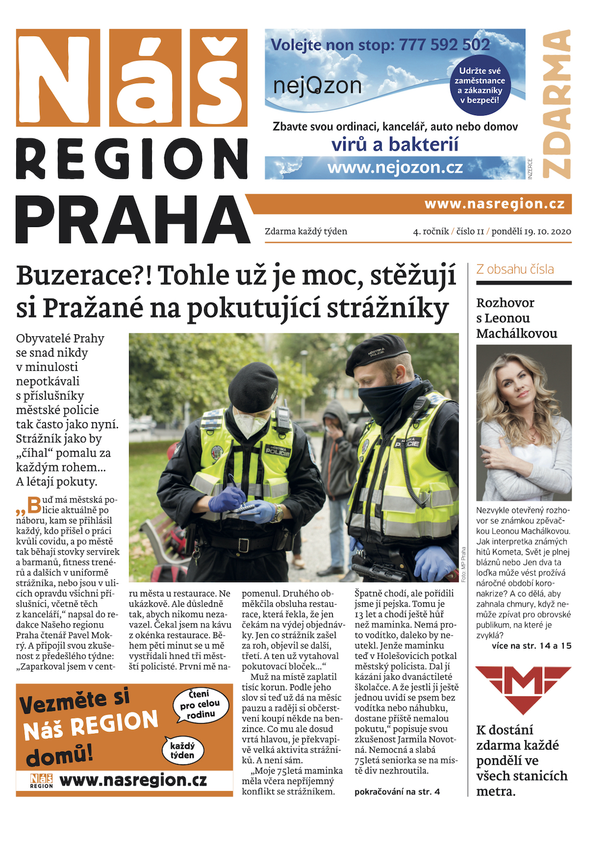 První vydání týdeníku Náš region Praha