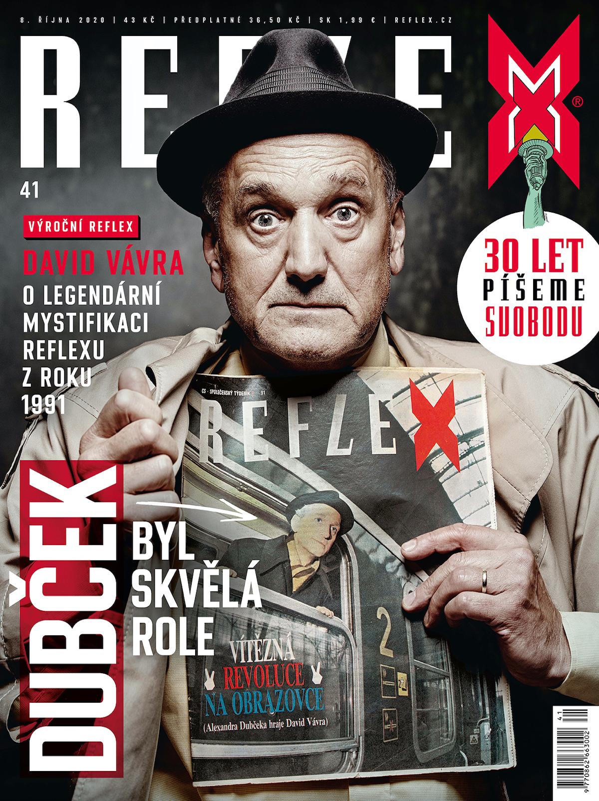 Obálka Reflexu ke 30. výročí časopisu