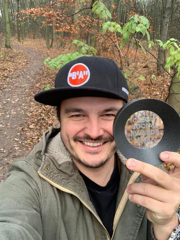 Roman Staša jako držitel Czech Social Award 2020