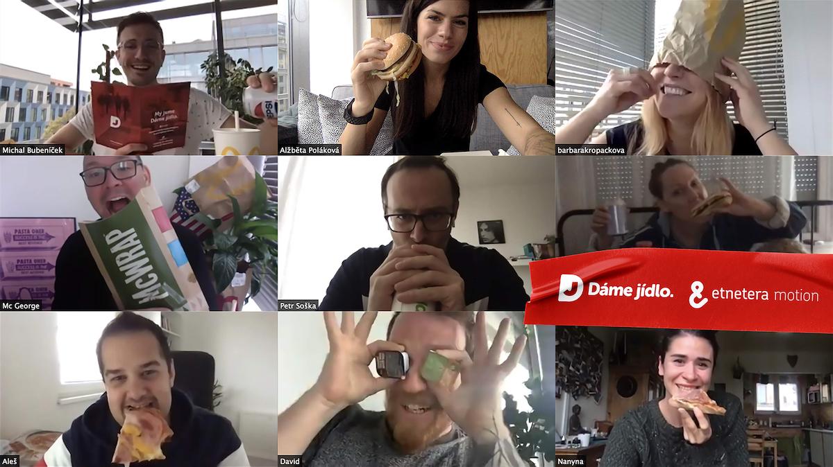 Etenetera Motion začíná pracovat na internetových kampaních klienta Dáme jídlo