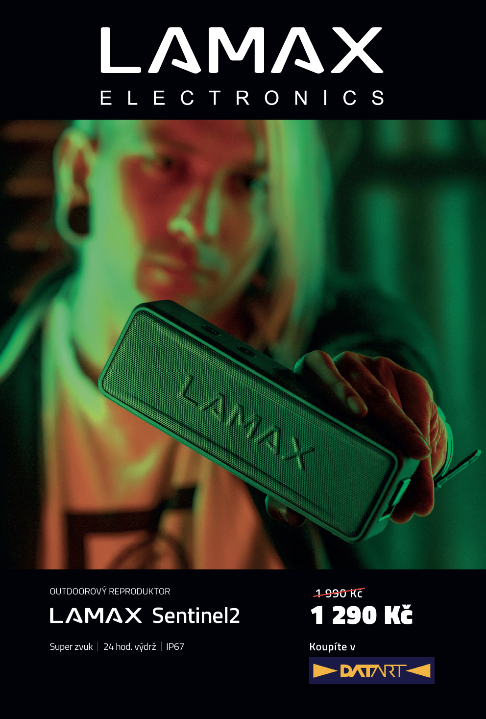 Vizuál kampaně značky Lamax od World of Online