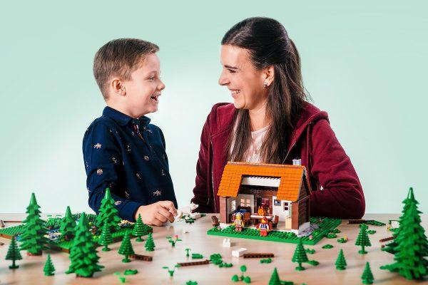 Klíčový vizuál vánoční kampaně značky Lego