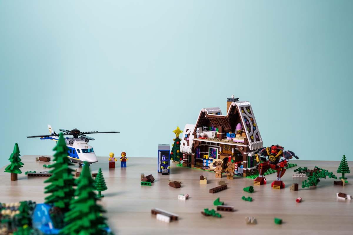 Vrtulník u perníkové chaloupky
