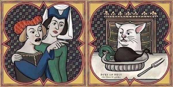 Středověk na Facebooku působí jako správný karneval. Všechno je naruby, setkáváme se v pospolitém smíchu. Repro: We Pretend It's 1453 Internet