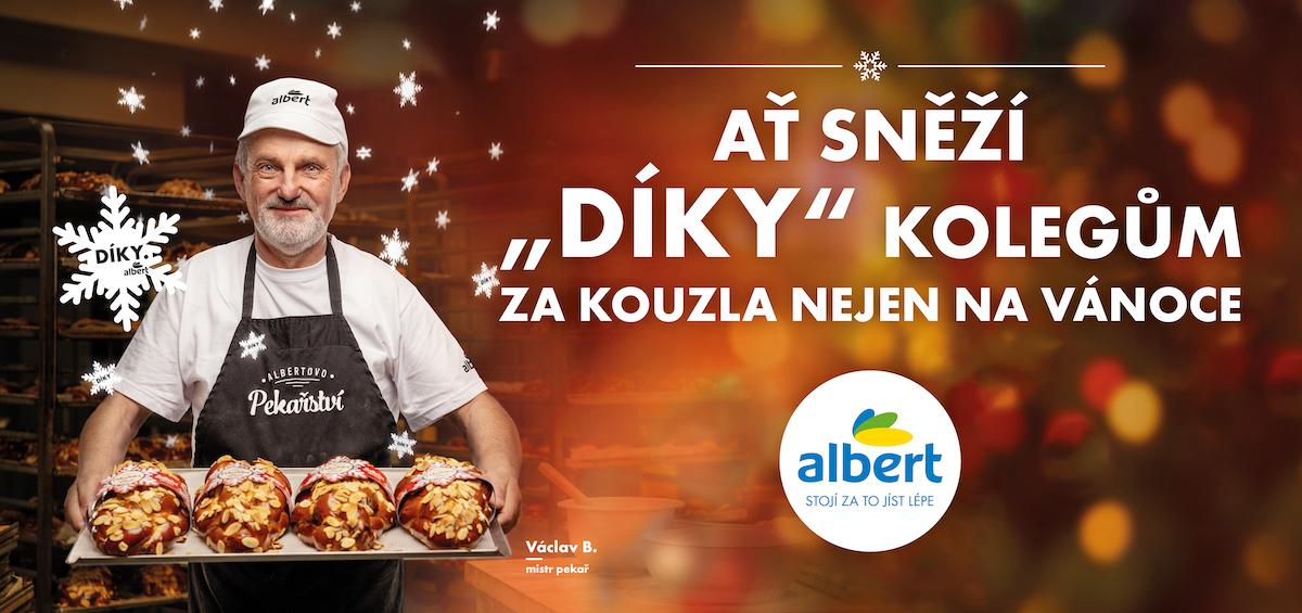 """Albert: Ať sněží """"díky"""" kolegům za kouzla nejen na Vánoce (VCCP Prague)"""