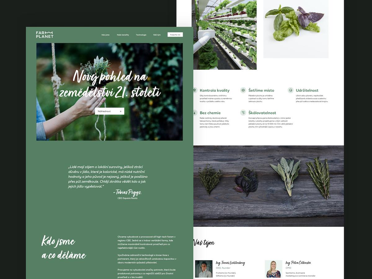 Nový design pro Farm Planet