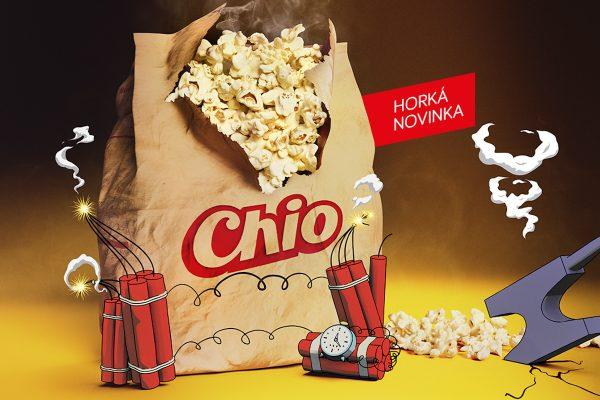 Intersnack uvádí novinku Chio Popcorn, internetové spoty ji spojují s filmem