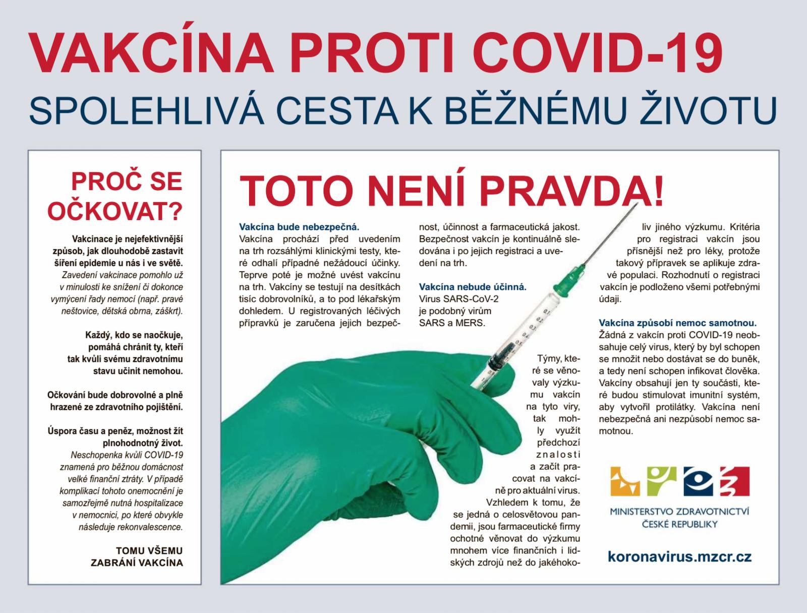 Inzerát ministerstva zdravotnictví v denním tisku