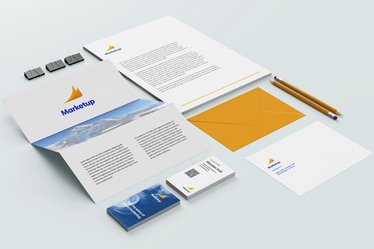 Prvky nové vizuální identity agentury Marketup