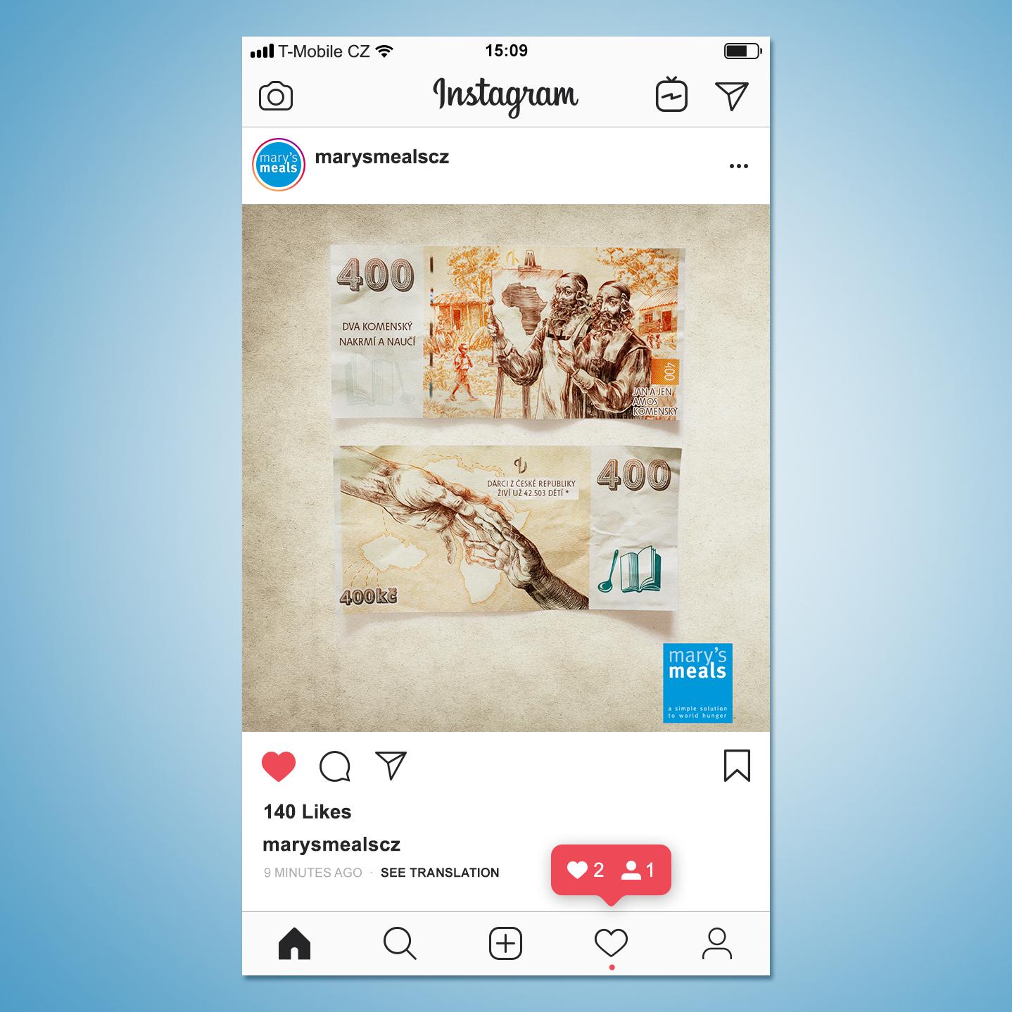 Příspěvek pro Instagram